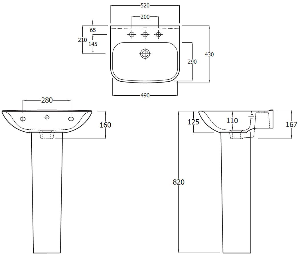 Technical drawing B3-16076 / EC6002