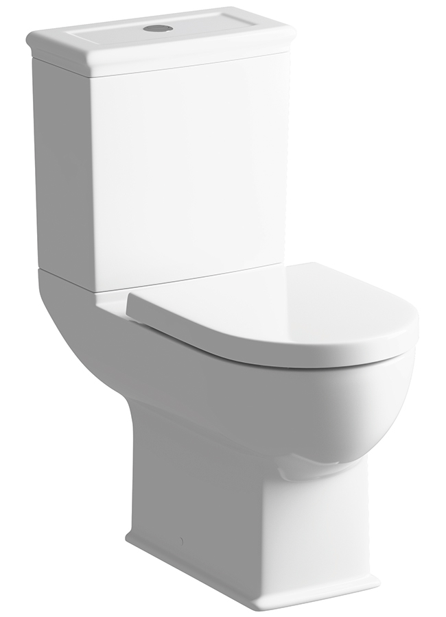 Porto Comfort Height Close Coupled Wc With Soft Close Seat