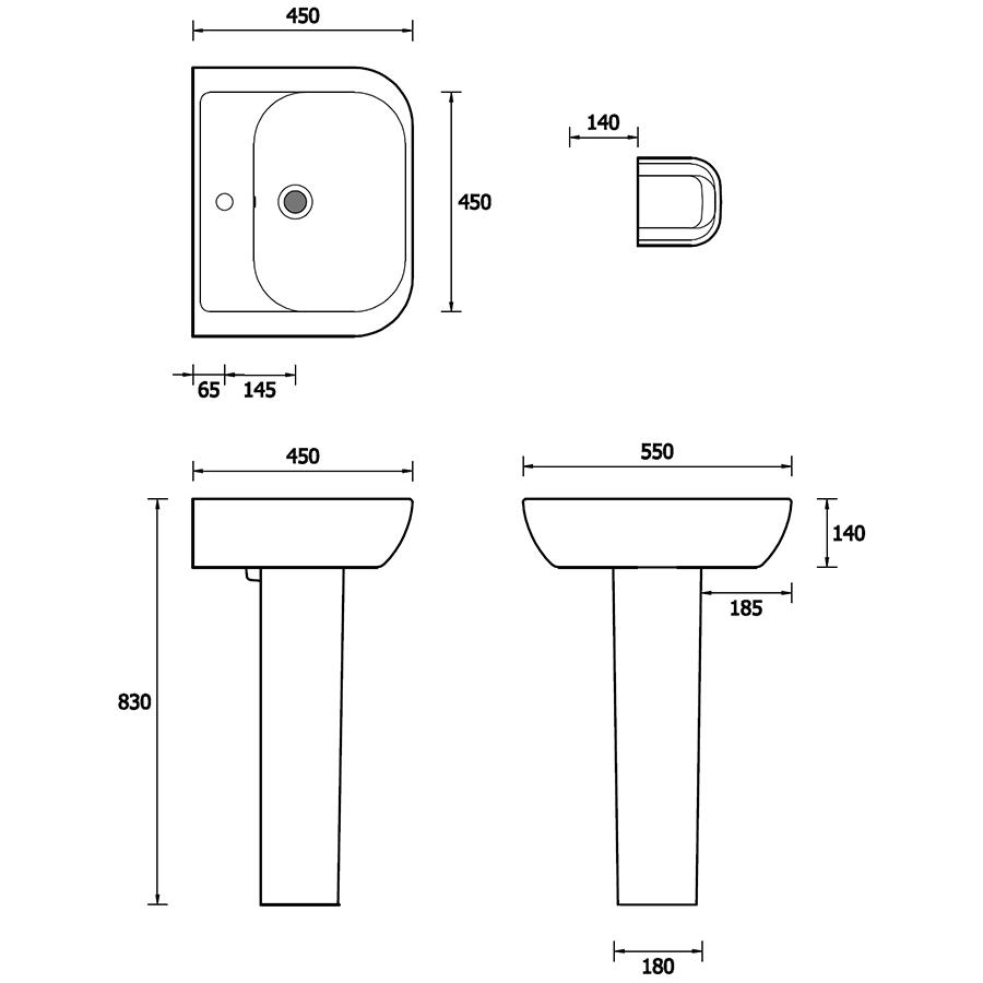 Technical drawing B3-16084 / EC4001
