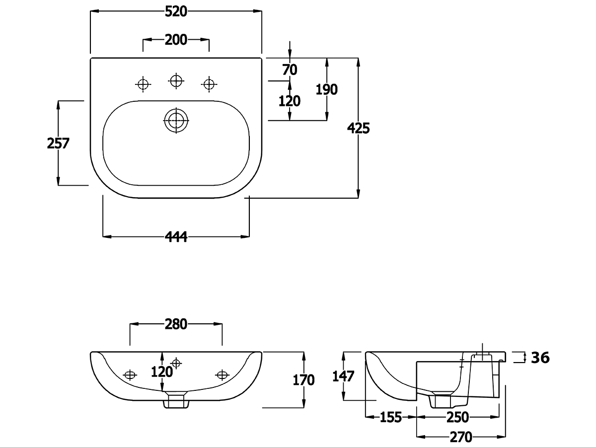 Technical drawing B3-15115 / EC1005