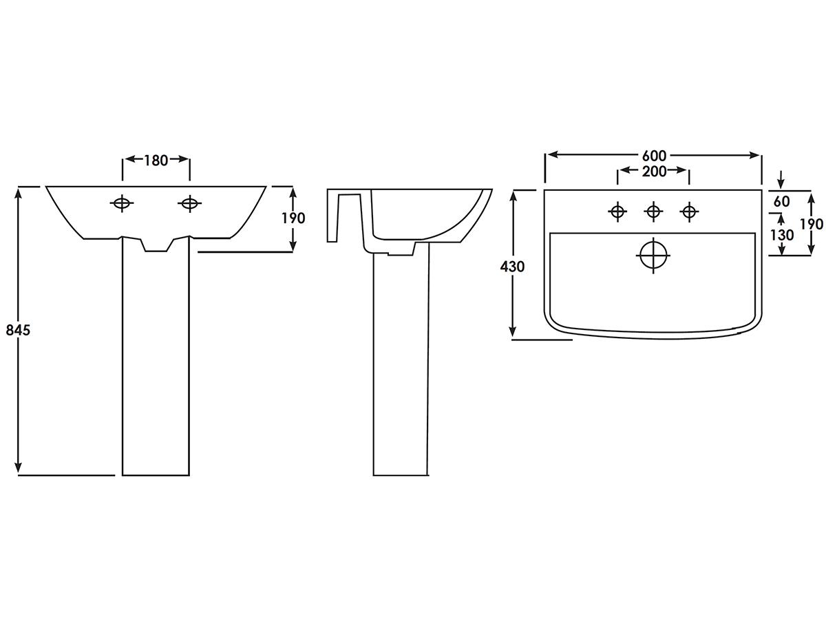 Technical drawing B3-15125 / EC5003