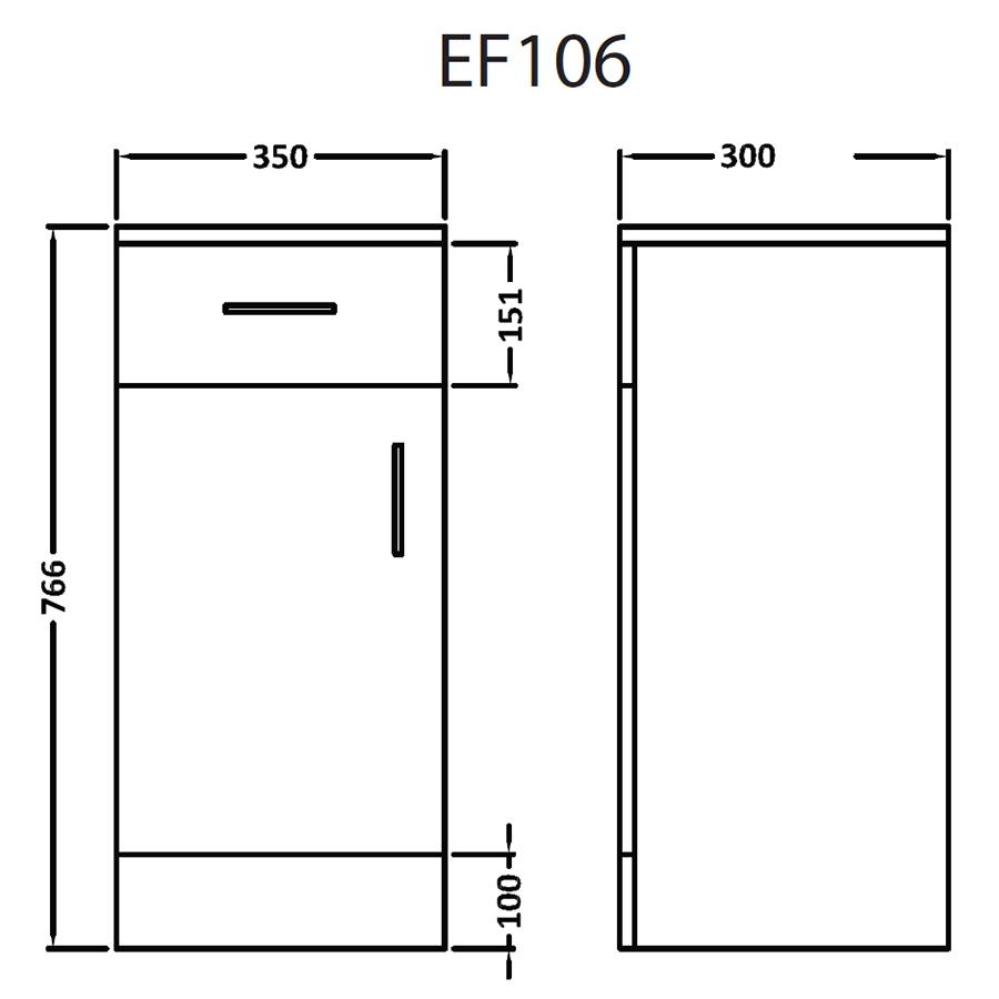 Technical drawing B3-16073 / EF106W