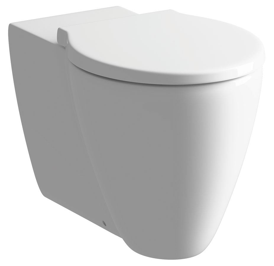 cream toilet seat soft close.  Cream Back To Wall WC Pan With Soft Close Seat