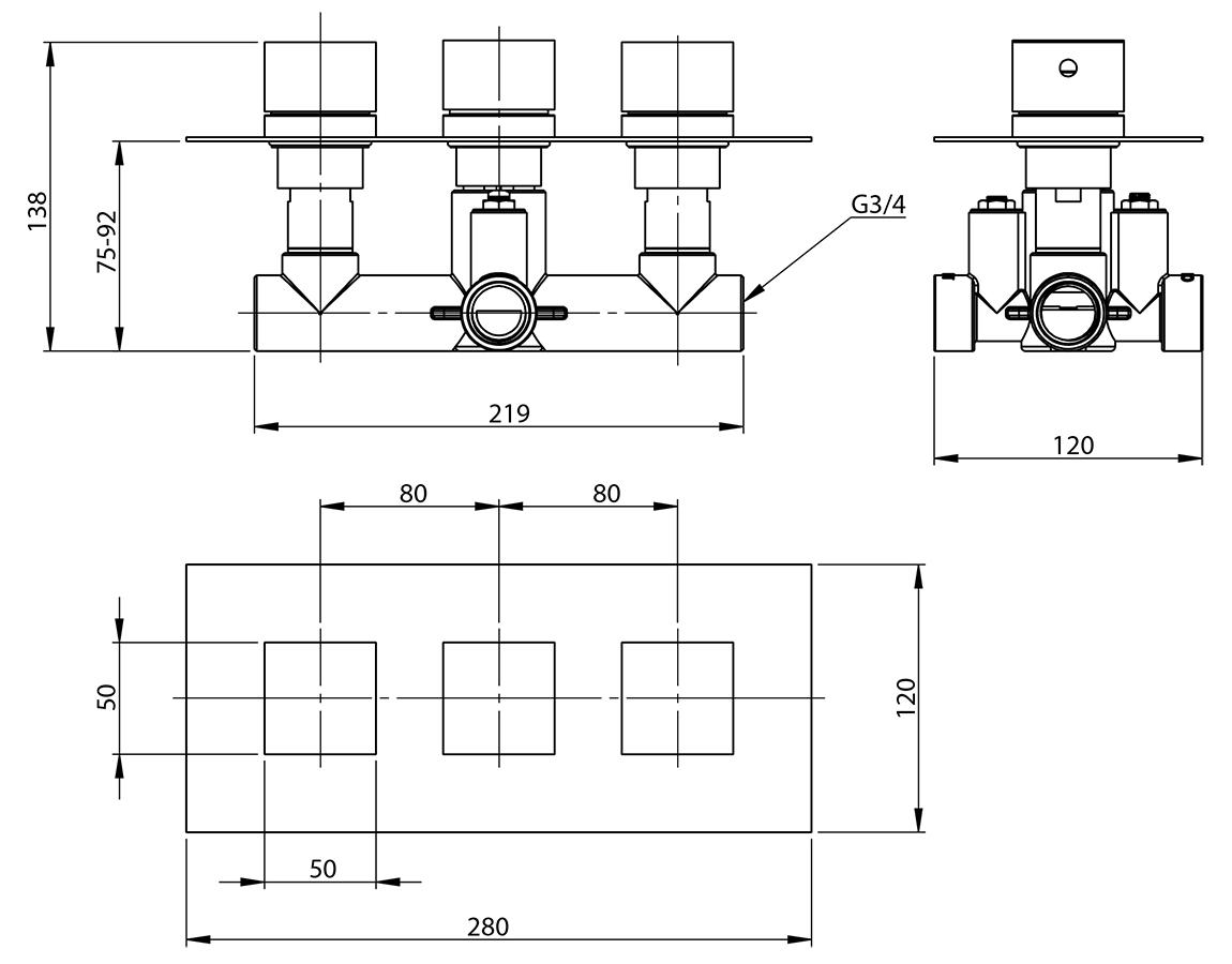 Technical drawing B3-11152 / CVT001