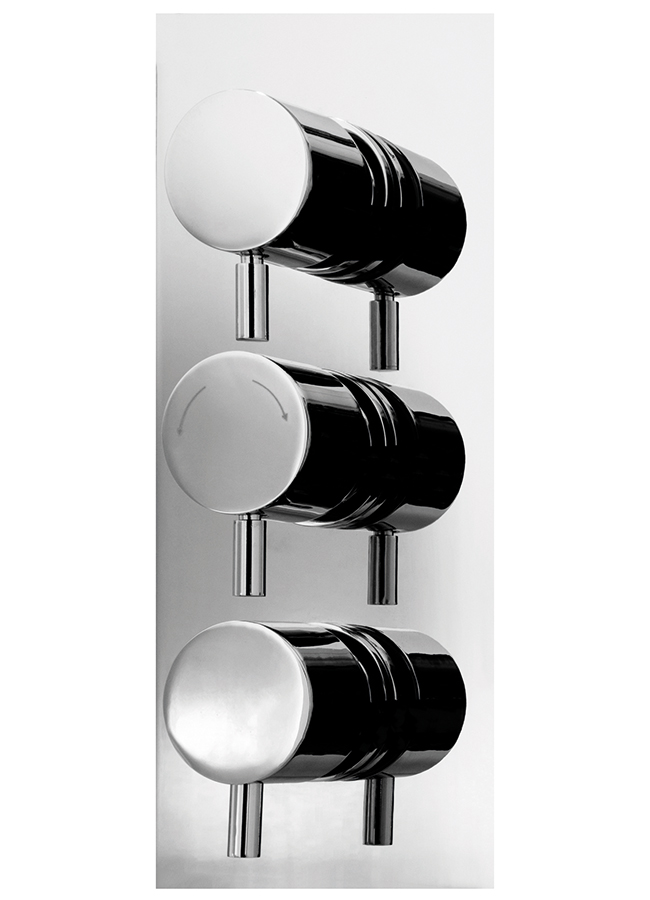 Cassellie Triple Round Concealed Thermostatic Shower Valve