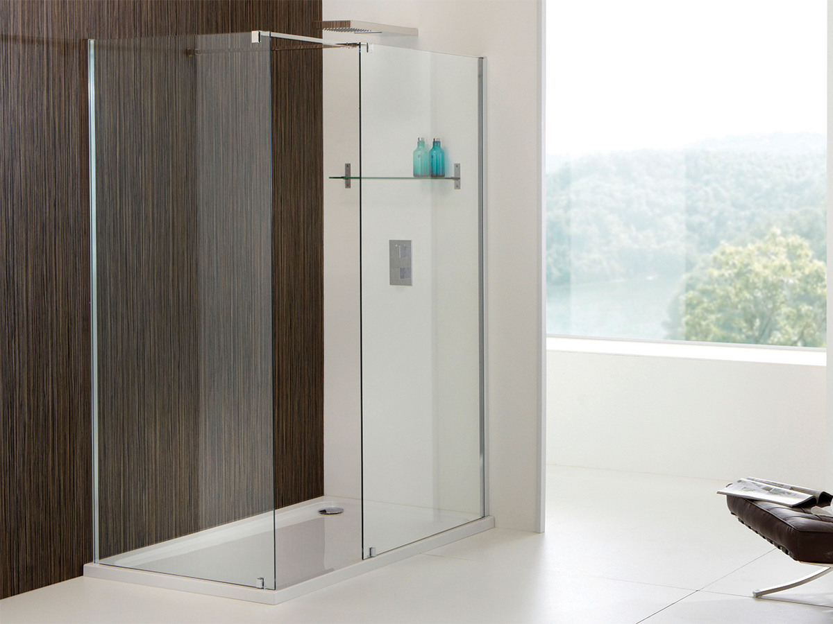 Champlain Ii 850mm Walk In Front Shower Panel
