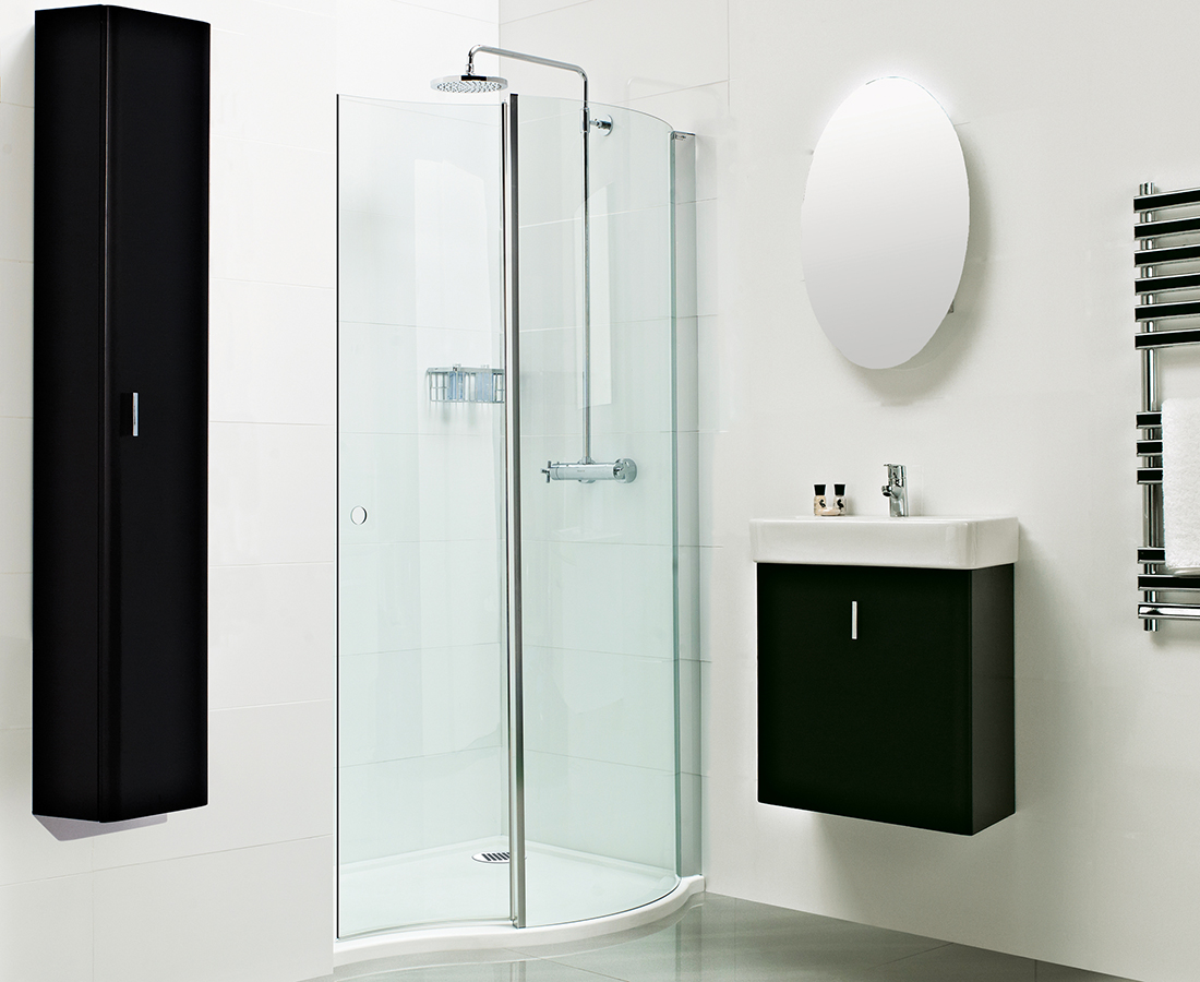 Champlain II Wave Space Saving Walk-In Shower Enclosure 1200 x 800mm
