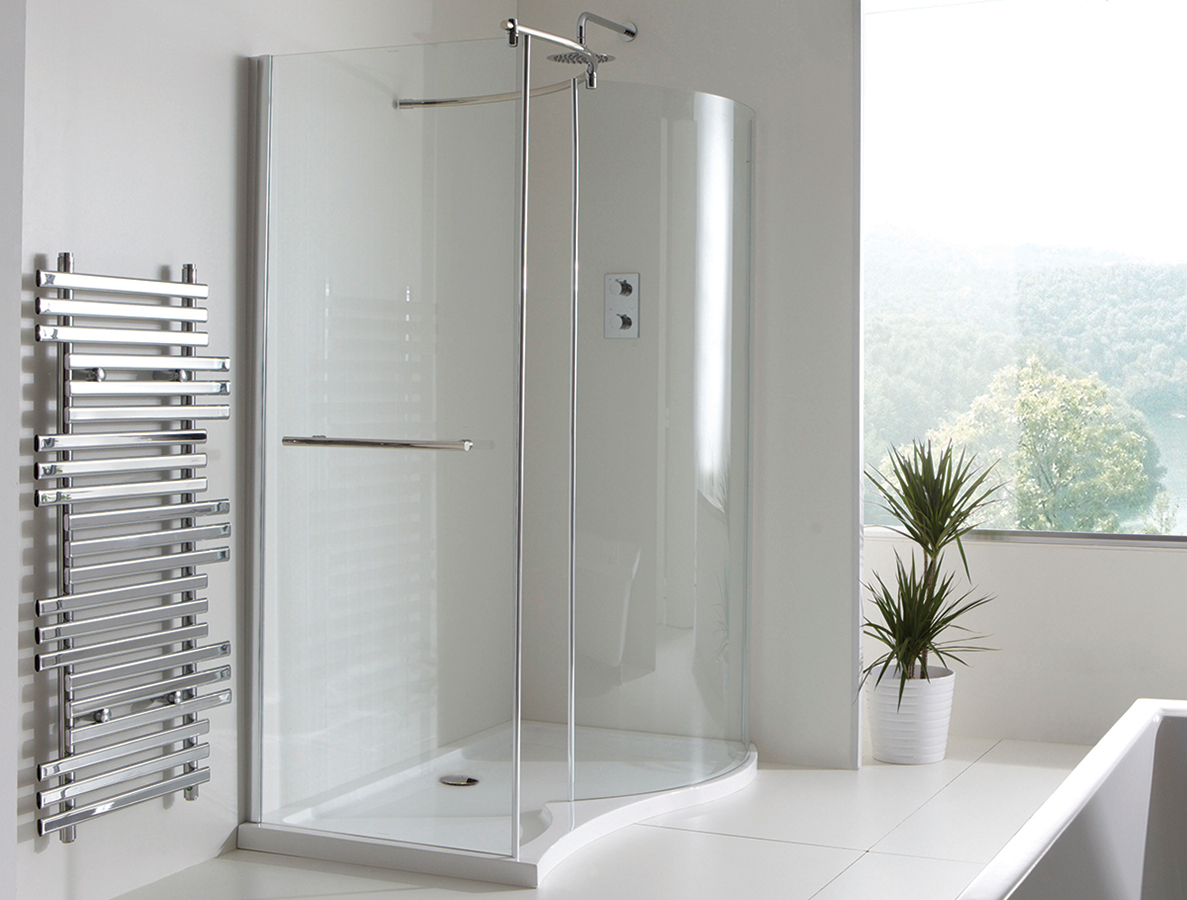 Champlain Ii Curved Walk In Shower Enclosure 1350 X 900mm