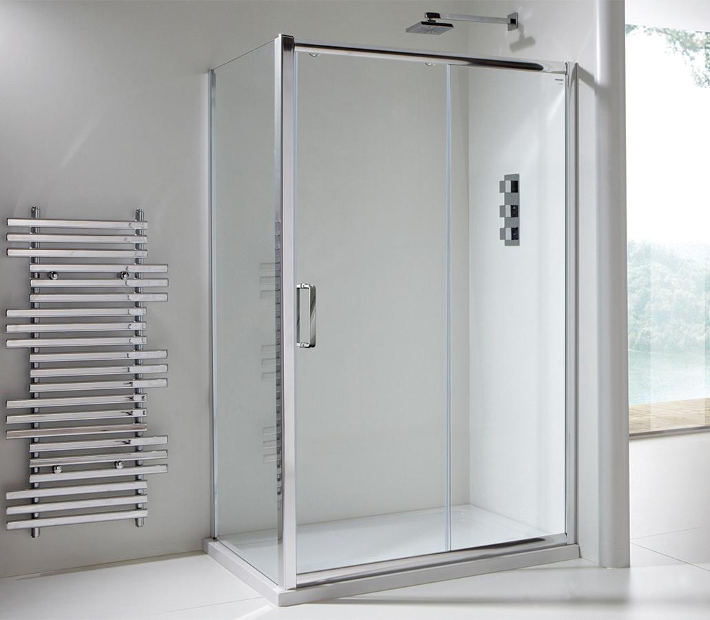 Champlain Ii 6mm Clear Glass Sliding Shower Door 1400mm