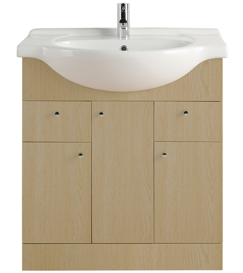 Majestic light oak vanity unit 750mm aloadofball