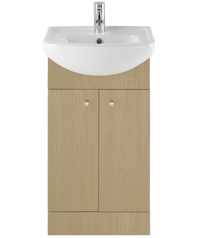 Majestic Light Oak Vanity Unit 450mm