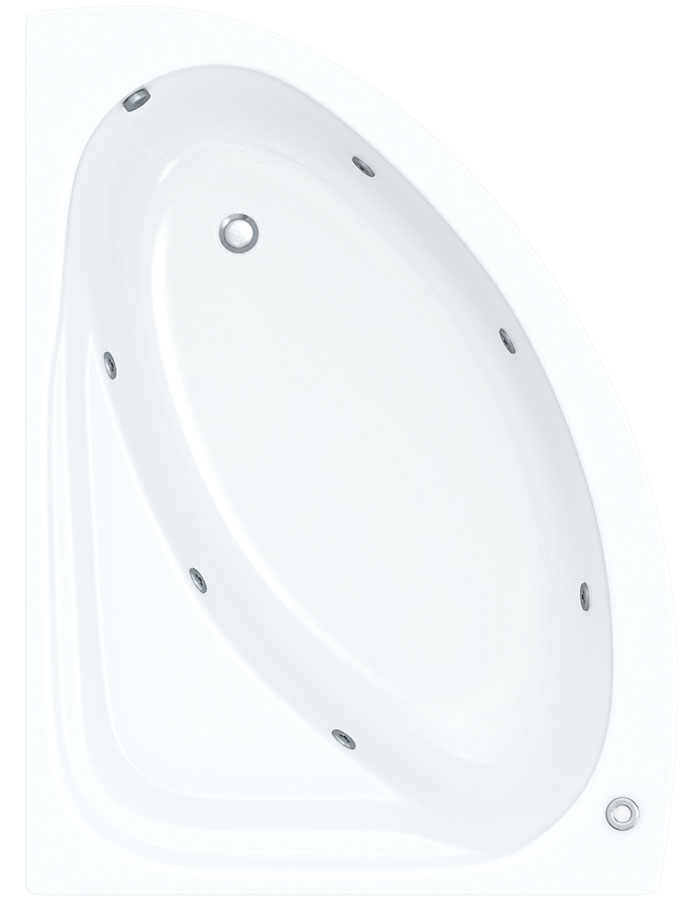 Eventa 1495mm Corner Bath With Wellness Whirlpool Star Buy System
