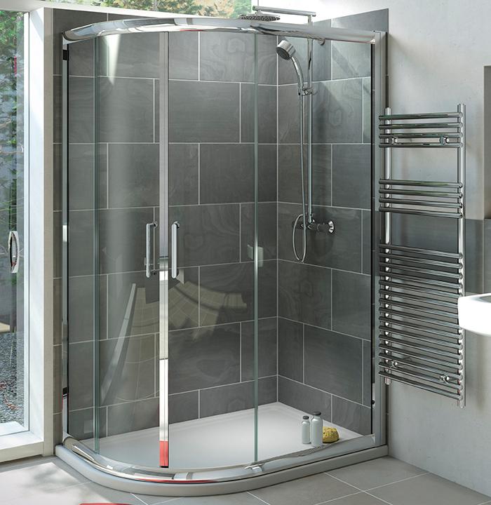 Mist 6 Offset Quadrant Shower Enclosure 1200 x 800mm