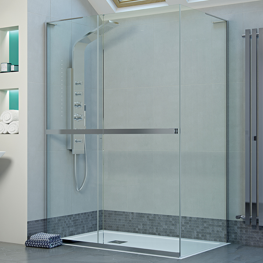 Mist Frameless Sliding Shower Door 1200mm