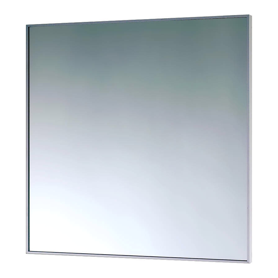 EuroShowers 500mm Square Mirror With Aluminium Frame