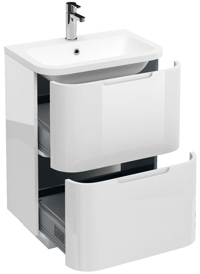Aqua Cabinets Compact White 600mm Floor Standing Basin