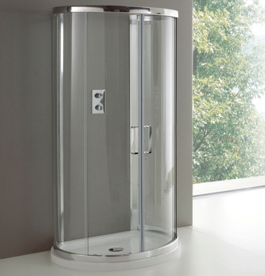 Champlain II 993 x 850mm D Shaped Quadrant Enclosure With Tray And ...
