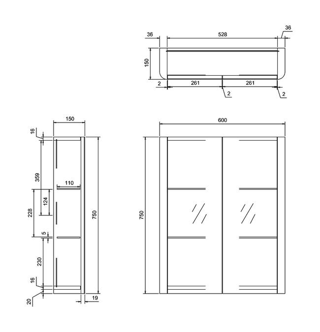 Technical drawing B3-11286 / AC50W