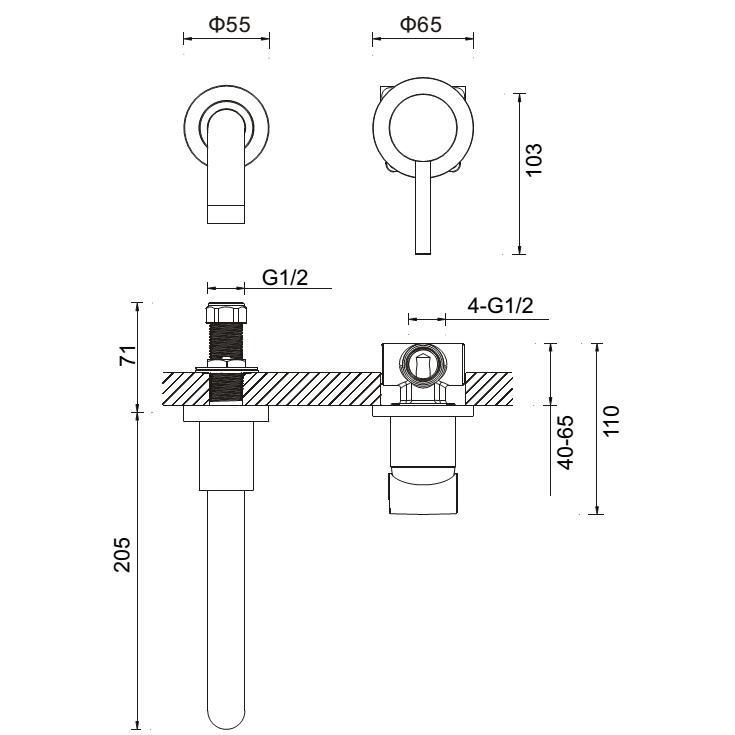 Technical drawing B3-12143 / MBFU120W