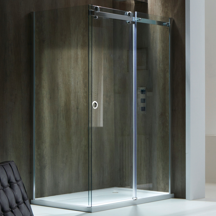 Champlain ii 8mm frameless sliding shower door 1200mm for 1200mm shower door sliding