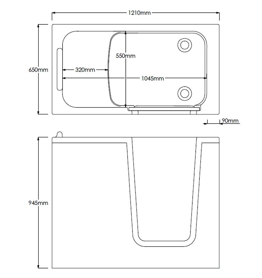 Technical drawing B3-10083 / COM1265L