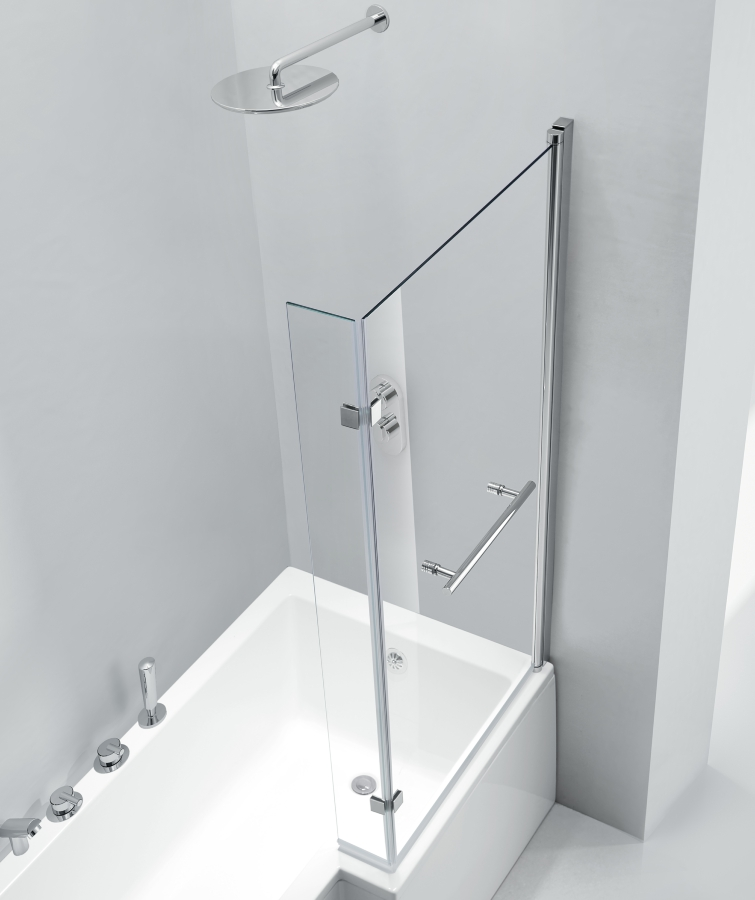 Pure L Shaped Bath Screen 850 X 1500mm
