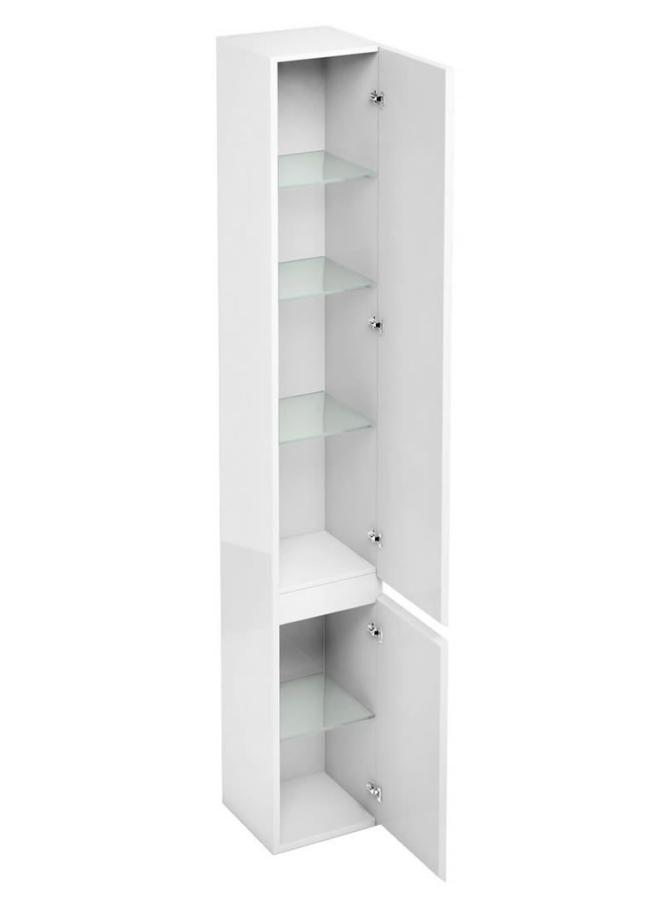 Aqua Cabinets D30 White Floor Standing Tall Unit 300 x 1900mm