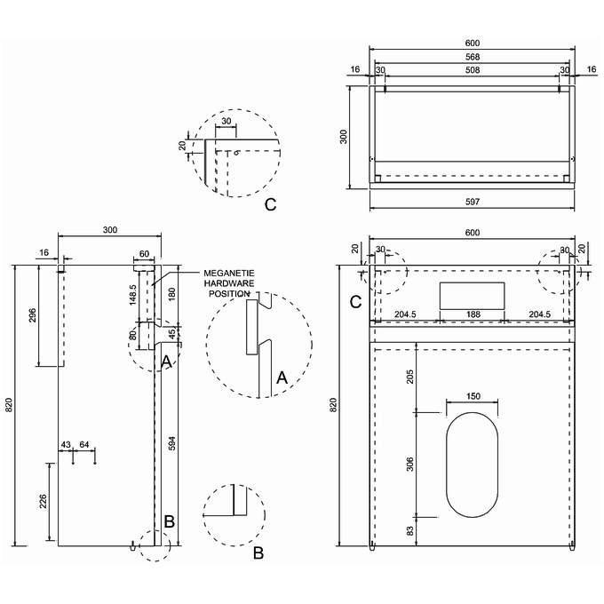 Technical drawing B3-11334 / AW32G