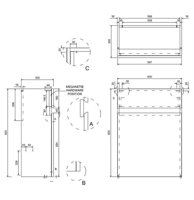 Technical drawing B3-11335 / AB31W