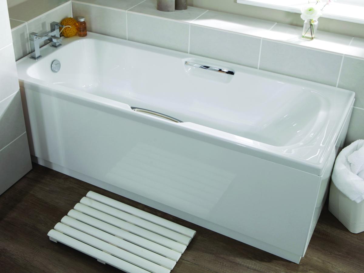 Velvet 8mm Single Ended Bath 1700 x 700mm