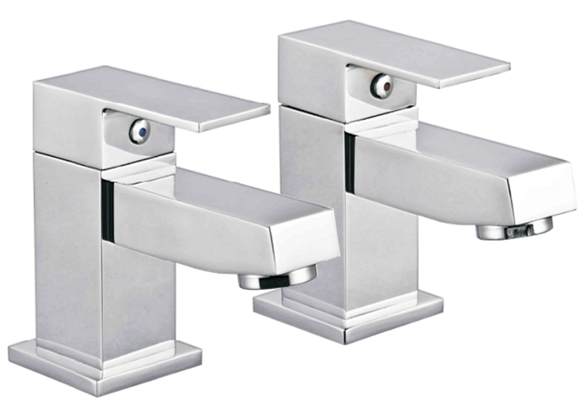 Cube Deck Mounted Basin Taps