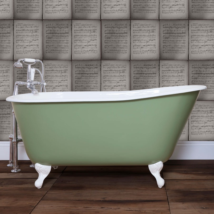 JIG Lille Cast Iron Free Standing Bath With Feet 1450 x 700mm