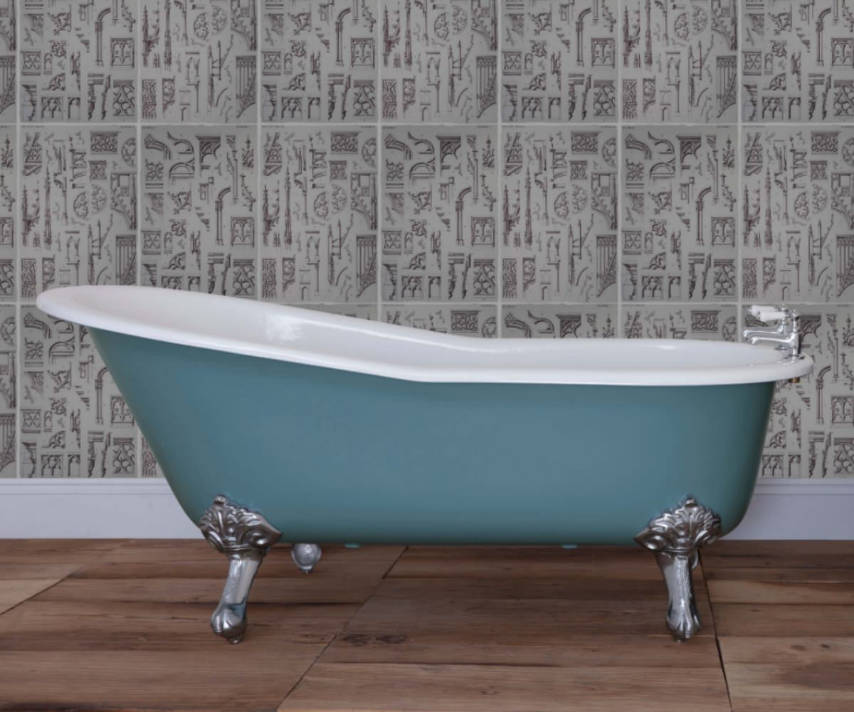 JIG Beaulieu Cast Iron Free Standing Bath With Feet 1720 x 740mm