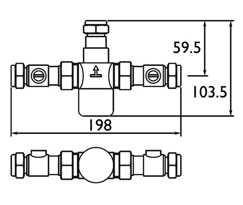 Technical drawing B3-21532 / MT503CP-ISO
