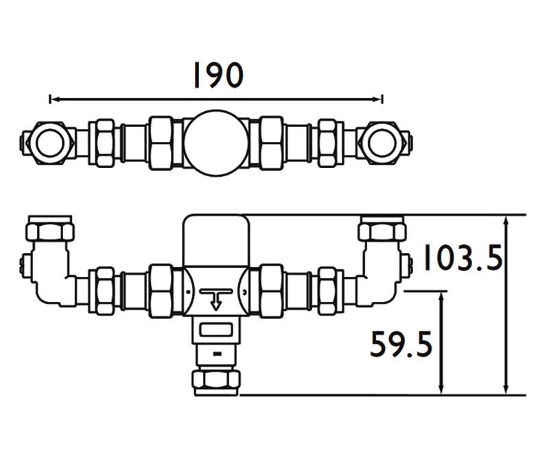 Technical drawing B3-21533 / MT503CP-ISOELB