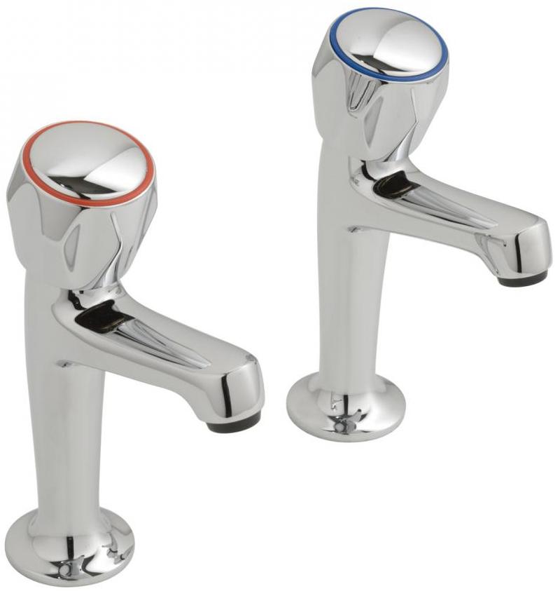 Vado Astra High Neck Kitchen Sink Pillar Taps