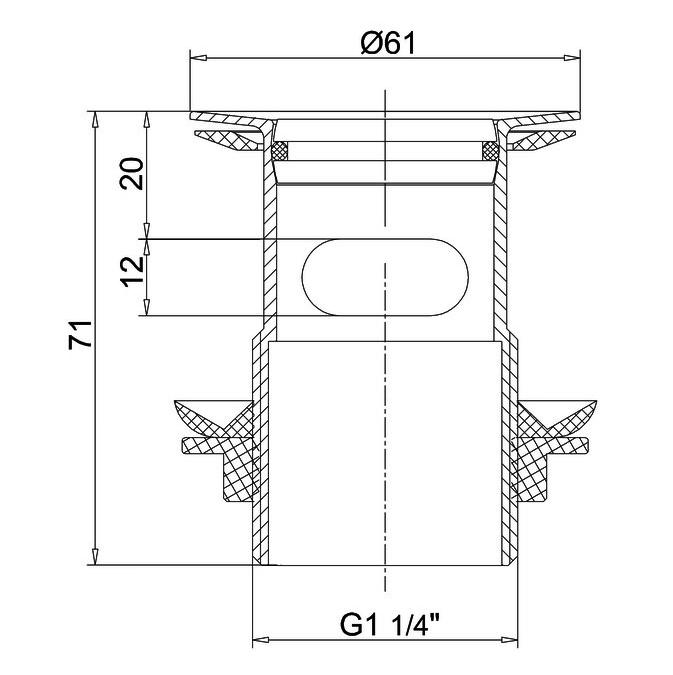Technical drawing B3-21352 / W18