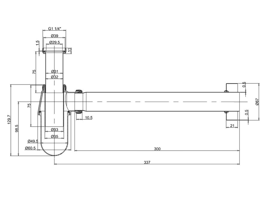 Technical drawing B3-21358 / W14