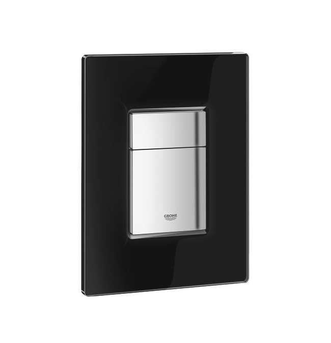 Grohe Cosmo Glass Flush Plate Velvet Black