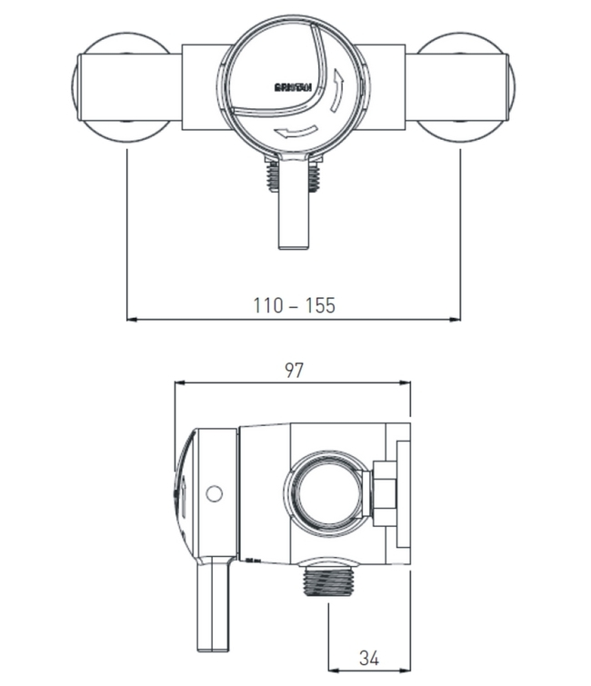 Technical drawing B3-21541 / MINI2 TS1203 EL C
