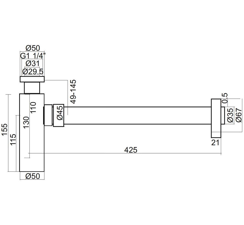 Technical drawing B3-12467 / PRO0402V