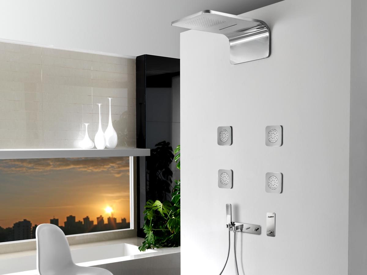 additional image of porcelanosa noken lounge concealed adjustable chrome body jet - Noken Porcelanosa