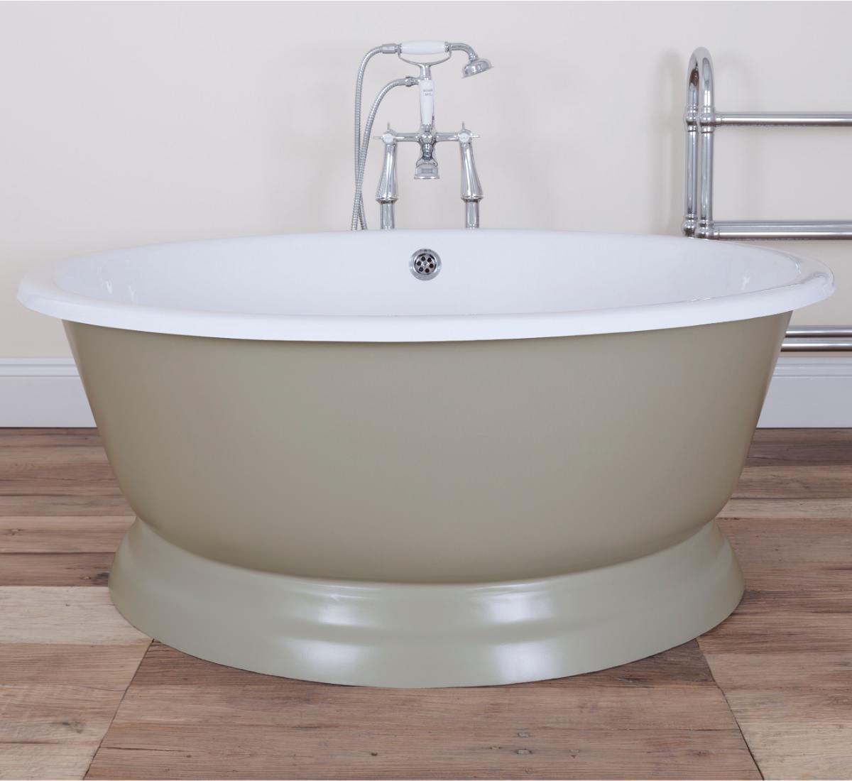 JIG The Drum Cast Iron Free Standing Bath 1080 x 1325mm