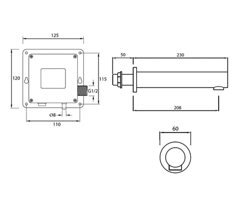 Technical drawing B3-21418 / IRWS1-CP
