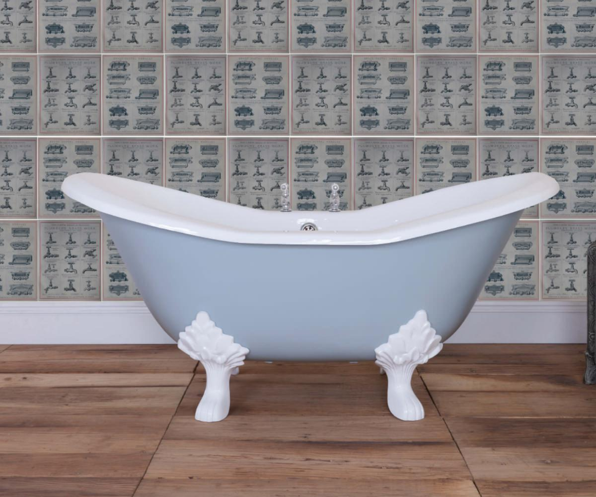 JIG Banburgh Small Cast Iron Free Standing Bath With Feet 1560 x 765mm