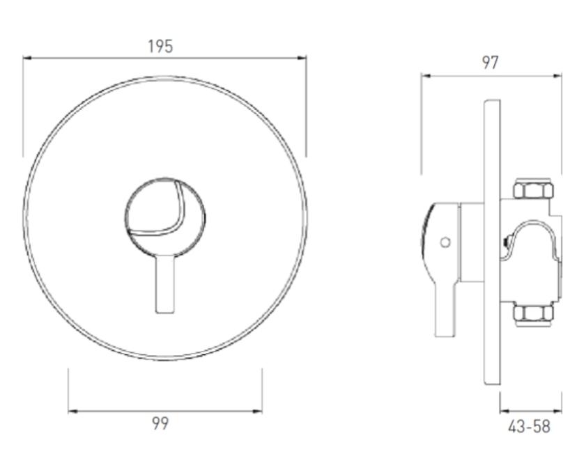 Technical drawing B3-21448 / MINI2 TS1203 CL C