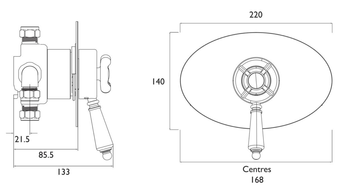 Technical drawing B3-21453 / N2 CSHCVO C