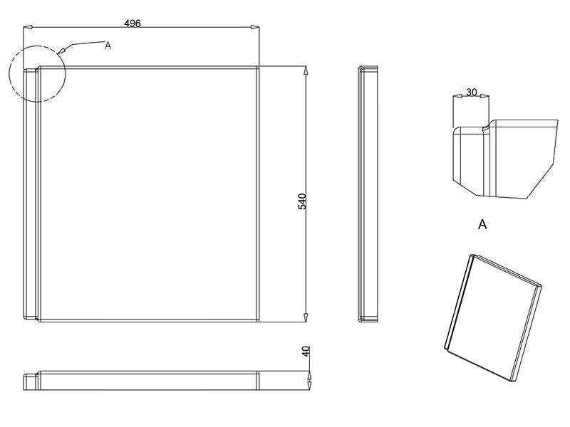 Technical drawing B3-14620 / R16E