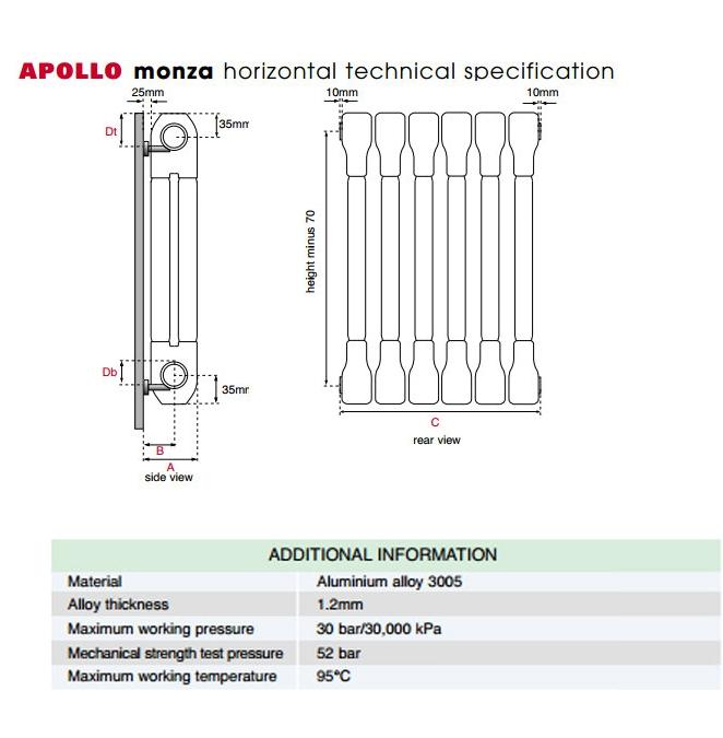 Technical drawing B3-21309 / AL2C4H400