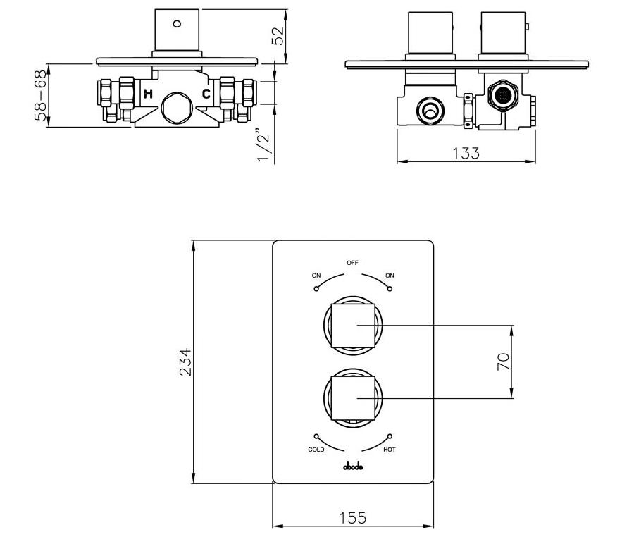 Technical drawing B3-15865 / AB2214